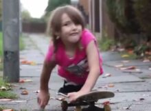 YouTube: niña sin piernas no tiene límites y disfruta del skate
